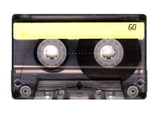 Old  cassette tape. Old Grungy cassette tape isolated over white background Stock Images