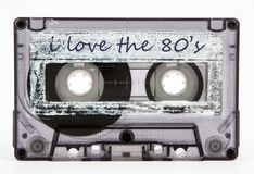 Old cassette tape isolated Stock Image