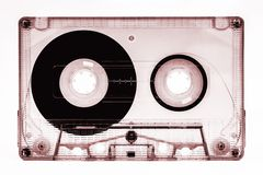 Old cassette tape isolated Royalty Free Stock Photography