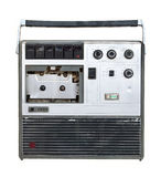 Old cassette tape recorder Stock Image
