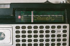 Old cassette tape recorder. top view. Royalty Free Stock Image