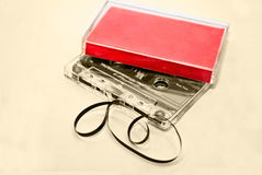 Old Cassette Tapes royalty free stock photos