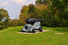 Old Cast Cannon at Carisbrooke Castle, Newport, the Isle of Wight, England Royalty Free Stock Photography