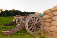 Old cast-iron cannon Royalty Free Stock Photography