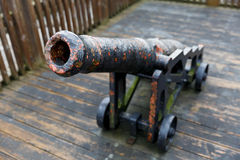 Old cast iron cannon Stock Image