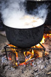 Old cast iron cooking Stock Images