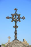 Old cast iron cross ornament Stock Photos
