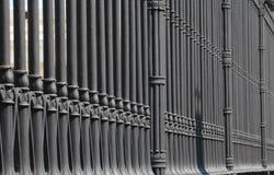 Old cast iron fence Stock Image