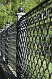 Old cast iron fence Royalty Free Stock Image