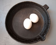 Old cast iron frying pan Stock Photo