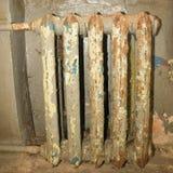 old cast iron heating radiator royalty free stock image