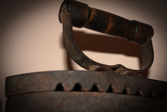 Old cast-iron iron Stock Images