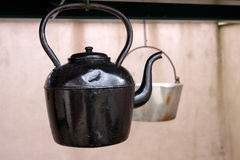 Cast iron kettle Stock Image
