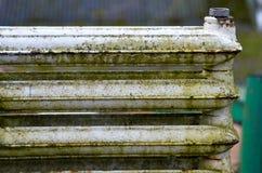 Old cast iron radiators Stock Images