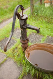 Old cast iron water pump Royalty Free Stock Photos