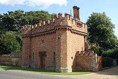 Old castellated gatehouse Stock Image