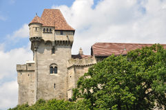 Old castle. Exterior of old castle or defensive stronghold with cloudscape background, Austria Stock Image
