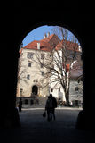 Old castle. In south Bohemia (Cesky Krumlov Stock Images