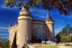 Old Castle. In France, a very old castle for high  quality tourism and wine tasting Royalty Free Stock Photography