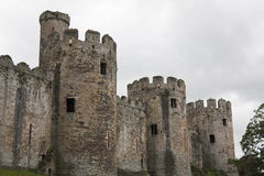 Old castle. View of an old castle on a cloudy day Royalty Free Stock Photography