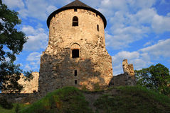 Old Castle. In Cesis, Latvia, Europe Stock Photography