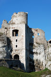 Old castle. On tlenieba, tower and rock Royalty Free Stock Images