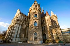 Old castle. Moszna in Poland Stock Images