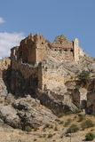 The old castle. Constructed on very high and vertical rocks that can be visit during a touristical Turkey journey Royalty Free Stock Photography