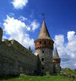 Old castle. Tower of castle in Kamenets-Podolskiy, Ukraine Stock Photos