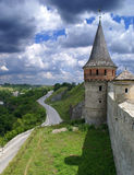 Old castle. The tower of castle in Kamenets-Podolskiy, Ukraine Royalty Free Stock Images