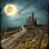 Old Castle. Old fortress figure an illustration Royalty Free Illustration