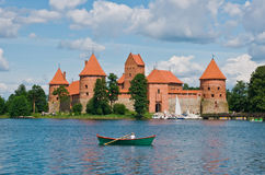 Old Castle. Old Trakai castle in Lithuania royalty free stock image