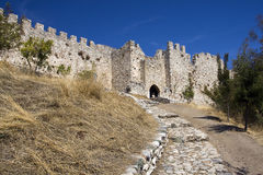 Old castle. Old Platamonas castle in Greece Stock Photography