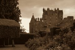 Old Castle. A British castle in Scotland Stock Images