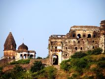 Old castle. The old and abandoned castle of narsinghgarh india Stock Image