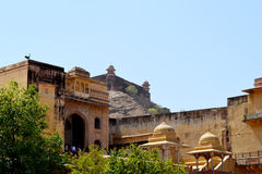 Old castle of amer, outskirt Jaipur Rajasthan India Royalty Free Stock Images