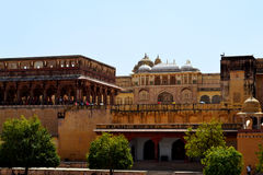 old castle of amer, outskirt Jaipur Rajasthan India Stock Image
