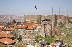 Old castle in Ankara. Turkey Royalty Free Stock Photos