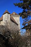 Old castle in Annecy, France Royalty Free Stock Photos