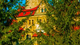 Old castle in autumn IN POLAND royalty free stock images