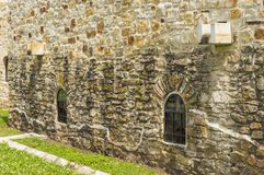 Old Castle Backyard Wall royalty free stock photography