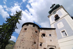 Old castle in Banska Stiavnica Stock Images