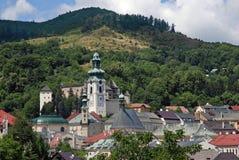 Old castle in Banska Stiavnica Stock Photography