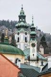 Old castle in Banska Stiavnica, Slovakia, cultural heritage Royalty Free Stock Photo