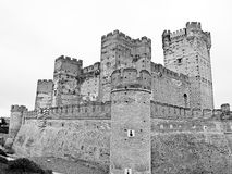 Old castle in black and white Royalty Free Stock Photos