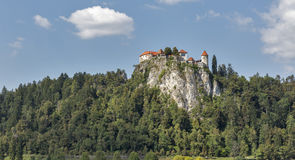 Old castle in Bled, Slovenia Stock Image