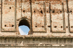 Old Castle Brick Wall. Close Up stock image
