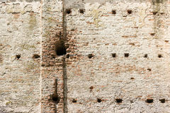 Old Castle Brick Wall Stock Photography