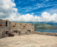 Old Castle. In Budva, view from inside Stock Photography