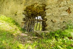Old castle buid in the South of the Slovak republic royalty free stock image